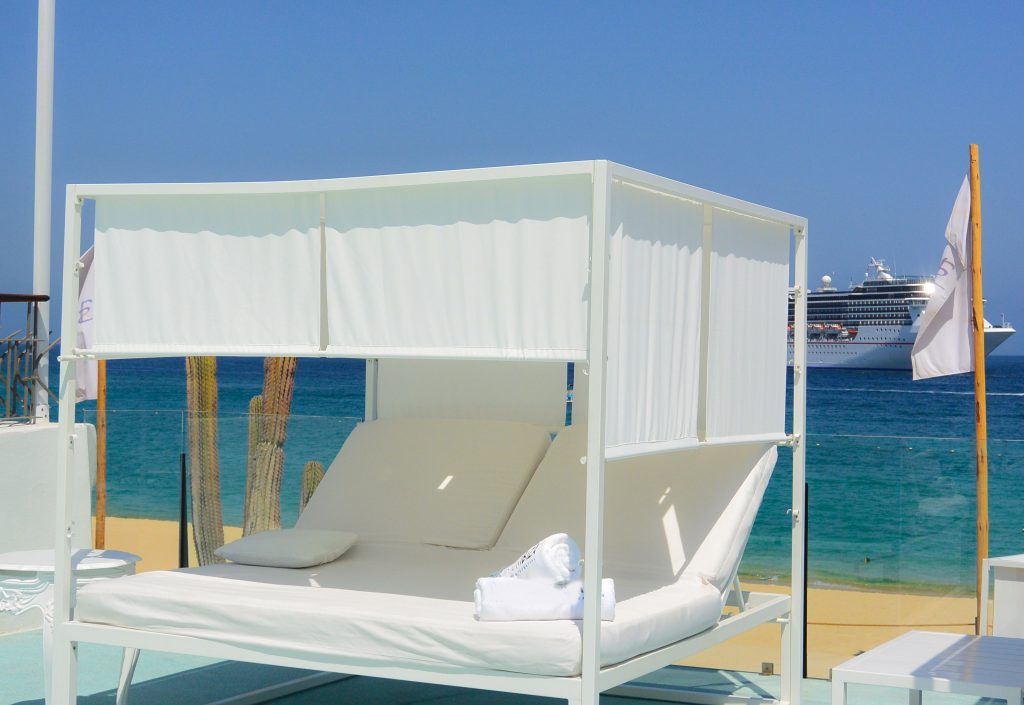 beach bed at resort day pass Cabo