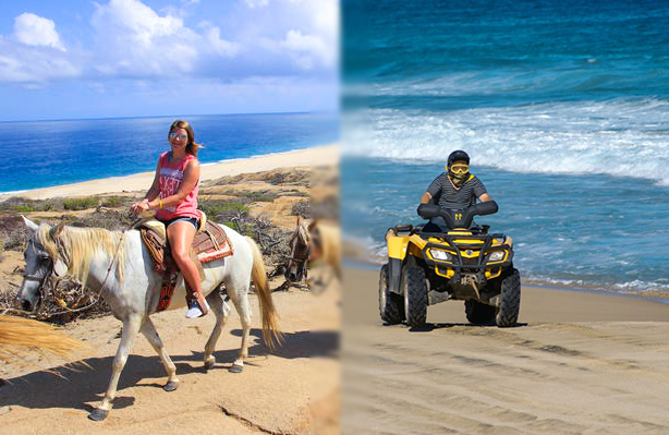 horseback atv Combo tour in cabo